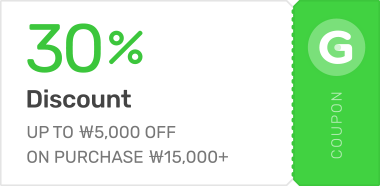 UP TO ₩5,000 OFF ON PURCHASE ₩10,000+